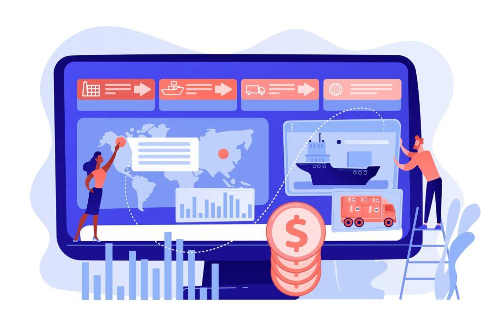 Supply chain analytics concept